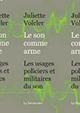 Volcler Juliette - Le son comme arme 80x113px
